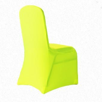 Fluro  Yellow Lycra  chair cover