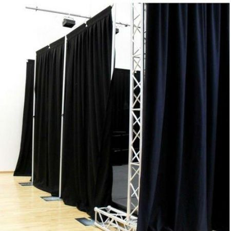 Drape and pole System - Price on Application