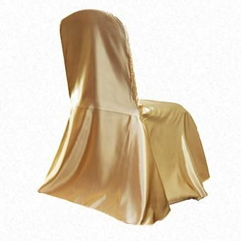 Gold Satin LF Freeflow/drop chair cover