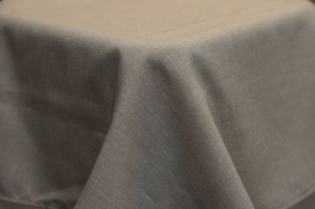 3.3m Stone Linen Look Round Cloth