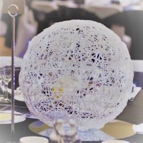 Wicker Ball with Fairy Lights