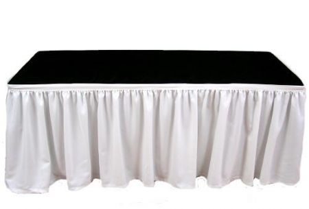 Table Skirting - 4 meter White