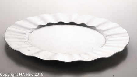 Silver Rippled Rim Charger Plate
