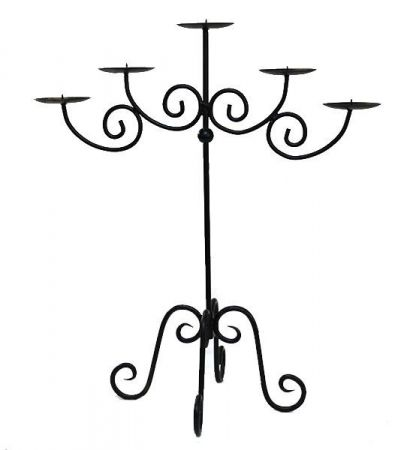 Straight 5 Branch Candelabra 75cm high