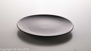 Matte Black Entree Plate
