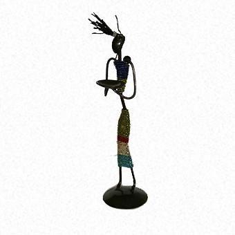 African Doll Candelabra 40cm
