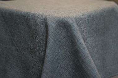 3.3m Charcoal Linen Look Round Cloth