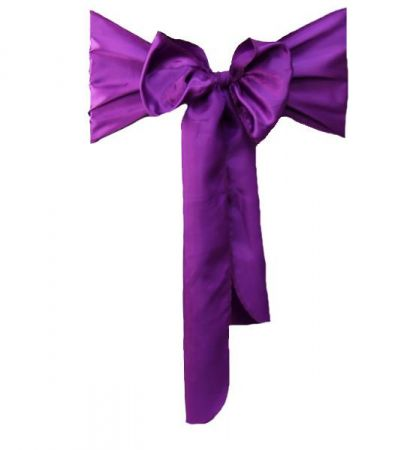 Grape RE Satin Sash