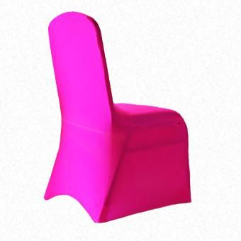 Fluro  Pink Lycra  chair cover