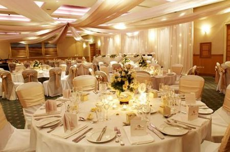 Gold and White Ceiling Silks