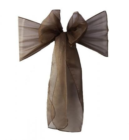 Chocolate Brown Organza Sash