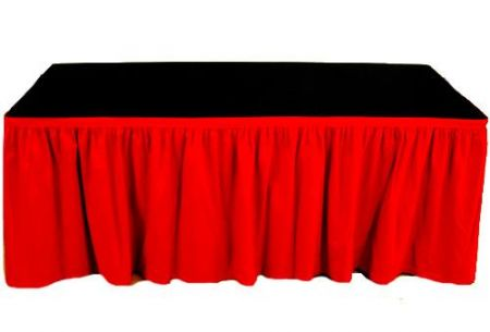 Table Skirting - 4 meter Red