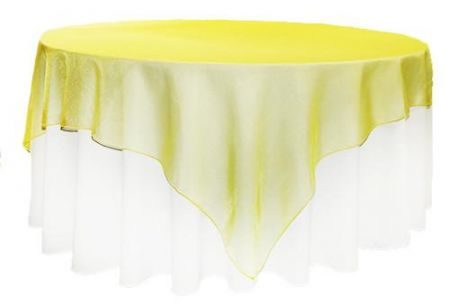 Yellow Organza 1.45m Square Overlay