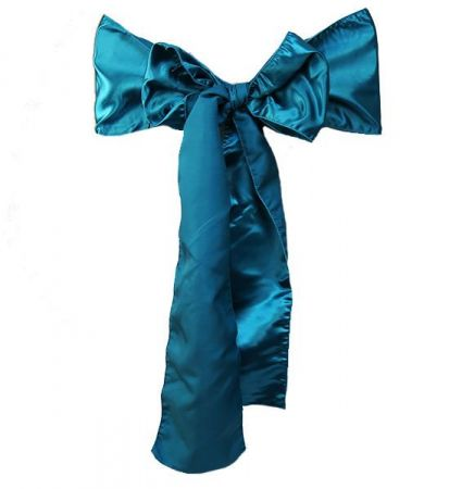 Teal Satin Sash