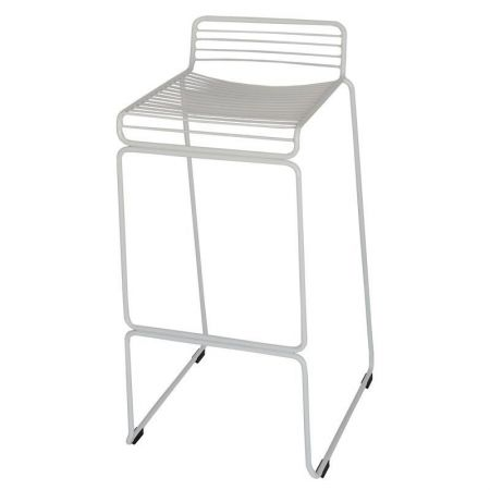 Wire Stool - White