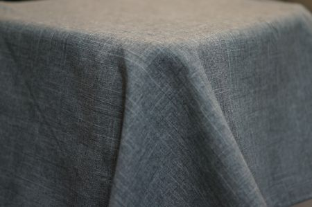 3.9m x 2.6m  Charcoal Linen Look BANQUET Cloth
