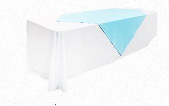 Aqua/ Turquoise Square 1.45m Overlay