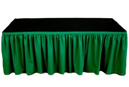Table Skirting - 4 meter Christmas Green