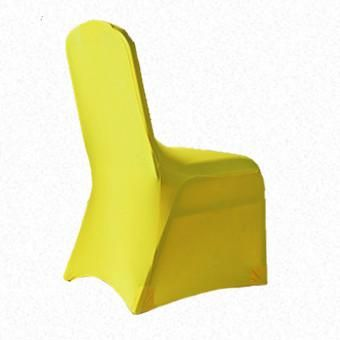 Yellow Lycra  chair cover