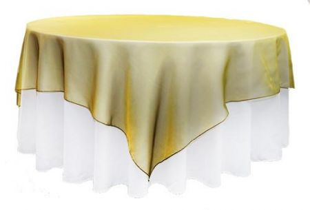 Gold Shot /Olive Organza Square 2m Overlay