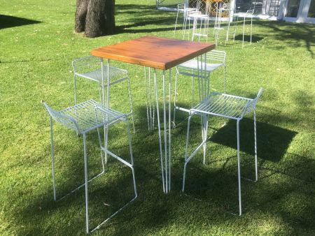 Cocktail Bench Table - Hair Pin Legs - SQUARE