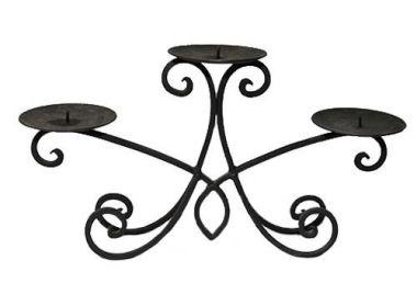 Bridal table Triple Stem Candelabra - 15cm