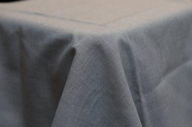 3.3m Light Grey Linen Look Round cloth