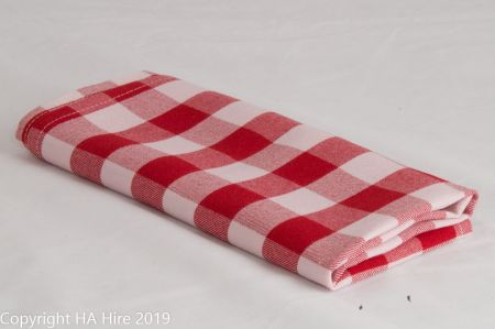 Red and White Check Napkin
