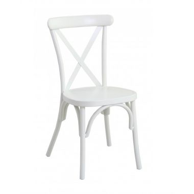 White Cross Back Chair