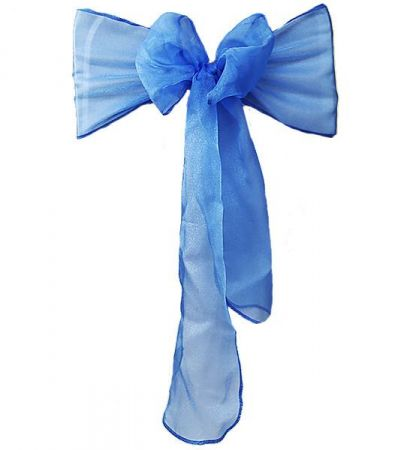 Royal Blue RE Organza Sash
