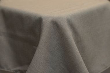 3.3m Stone Linen Look Round Cloth