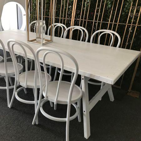 2.4m x 1.1m Farmhouse Timber Table - White