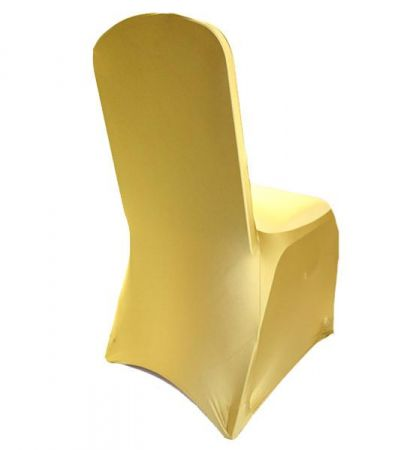 Gold Lycra  chair cover