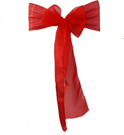 Red organza Satin Sash