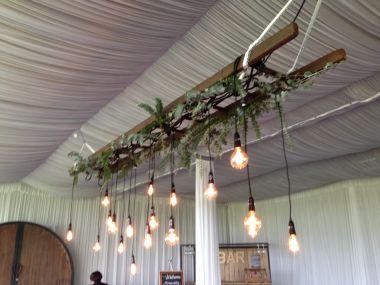 Rustic Ladder with Festoon Lights