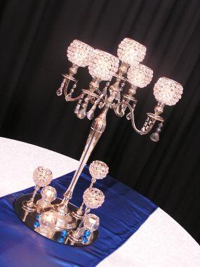 Silver Crystal Candelabra