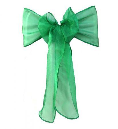 Christmas Green organza Sash