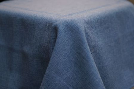 3.3m Chambray Linen Look Round Cloth
