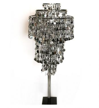 Silver Chandelier Lamp shade various stands available
