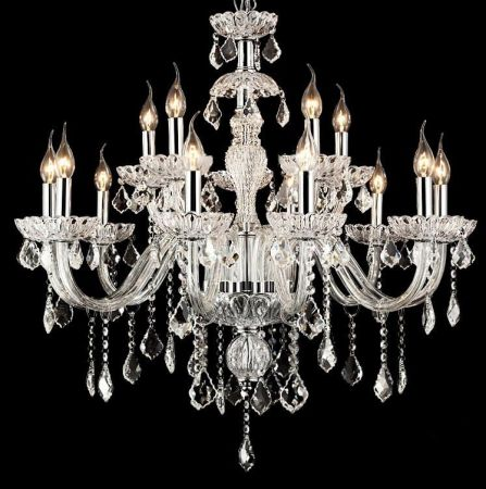 15 Branch Crystal Chandelier